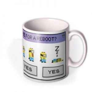 Despicable Me Minions Time For A Reboot Mug By Moonpig, Gift Set – Delivery Available