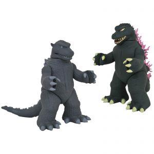 Diamond Select Godzilla Vinimate 2-Pack – Godzilla (1954) & Godzilla (1999)