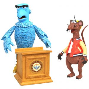 Diamond Select Muppets Deluxe Action Figure 2-Pack – Sam The Eagle & Rizzo The Rat