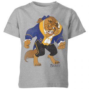 Disney Beauty And The Beast Classic Kids' T-Shirt – Grey – 3-4 Years – Grey