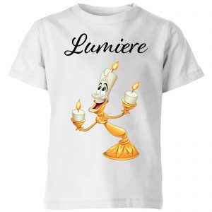 Disney Beauty And The Beast Lumiere Kids' T-Shirt – White – 3-4 Years – White