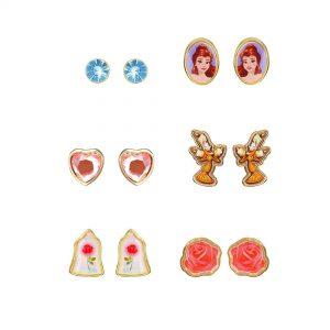 Disney Beauty And The Beast 6-Piece Earring Set