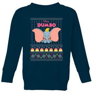 Disney Classic Dumbo Kids Christmas Sweatshirt – Navy – 9-10 Years – Navy