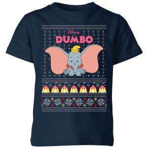 Disney Classic Dumbo Kids Christmas T-Shirt – Navy – 3-4 Years – Navy