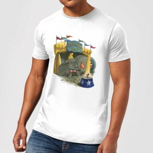 Disney Dumbo Circus Men's T-Shirt – White – S – White