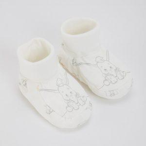 Disney Dumbo Cream Booties – 9-12 Months