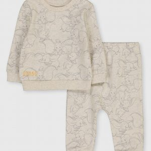 Disney Dumbo Oatmeal Print Top & Joggers – Up To 3 Mths