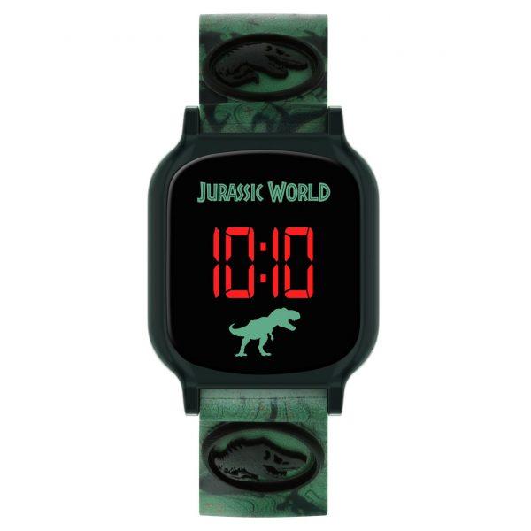 Disney Jurassic Park Kid's Digital Grey Silicone Strap Watch