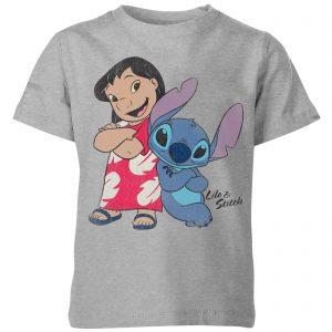 Disney Lilo & Stitch Classic Kids' T-Shirt – Grey – 3-4 Years – Grey