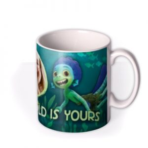 Disney Luca The World Is Yours Photo Upload Mug By Moonpig, Gift Set – Delivery Available