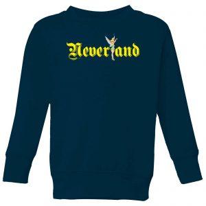 Disney Peter Pan Tinkerbell Neverland Kids' Sweatshirt – Navy – 9-10 Years – Navy