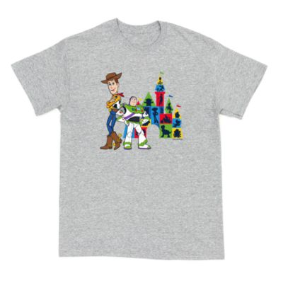 Disney Pixar Buzz and Woody Customisable T-Shirt, Toy Story, Grey - From shopDisney