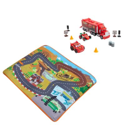 Disney Pixar Cars Mack and Pals Deluxe Playset, Kids, Red, Black Blue, Size: 58.5x76cm - From shopDisney