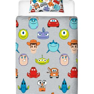 Disney Pixar Emoji Single Duvet Cover Set