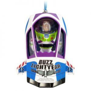 Disney Pixar Toy Story's Buzz Lightyear Talking Hanging Ornament, Resin, Boys, Purple, Size: 10x9x4cm – From ShopDisney