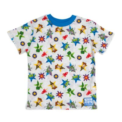 Disney Store Pixar Toy Story Grey T-Shirt, Boys, White, Green and Red - From shopDisney