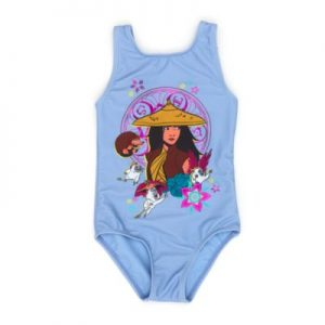Disney Store Raya And The Last Dragon Swimming Costume, Girls, Light Blue – From ShopDisney