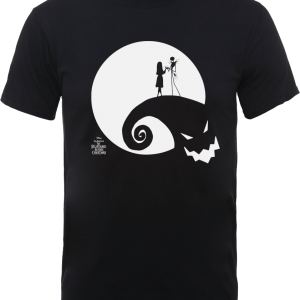 Disney The Nightmare Before Christmas Jack And Sally Moon Black T-Shirt – XS