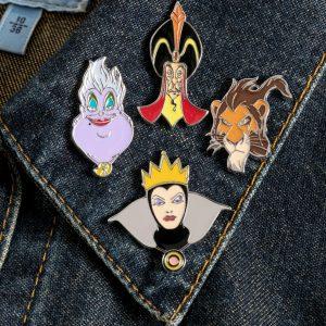 Disney Villains Set Of Four Enamel Pins