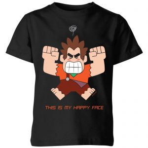 Disney Wreck It Ralph This Is My Happy Face Kids' T-Shirt – Black – 3-4 Years