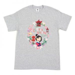 Disney's Mulan Let Your Dreams Blossom Customisable T-Shirt, Boys, Grey – From ShopDisney