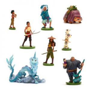 Disney's Raya And The Last Dragon Deluxe Figurine Playset, Kids, Blue Pink, Size: 8x3x3cm – From ShopDisney