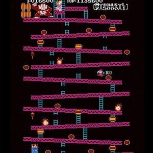 Donkey Kong NES Framed Image Multicolour