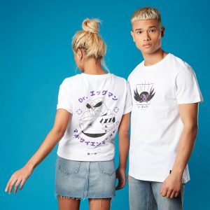 Dr Eggman Sonic The Hedgehog Unisex T-Shirt – White – XS – White