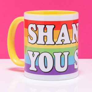Drag Race Inspired Shantay You Stay Yellow Handle Mug