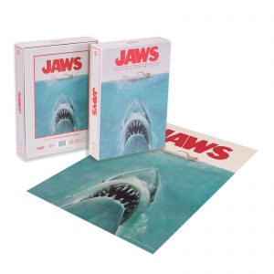 DUST! Jaws Classic Movie Poster 1000pc Puzzle – Zavvi Exclusive