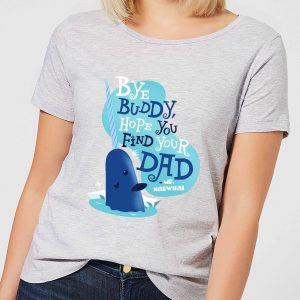 Elf Bye Buddy Women's Christmas T-Shirt – Grey – S – Grey