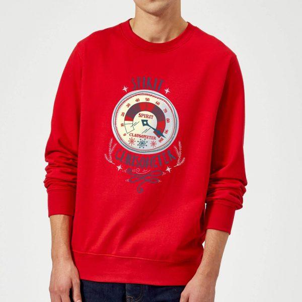 Elf Clausometer Christmas Sweatshirt - Red - S - Red
