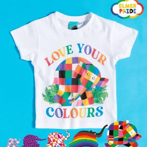 Elmer Love Your Colours Pride Charity Kids T-Shirt