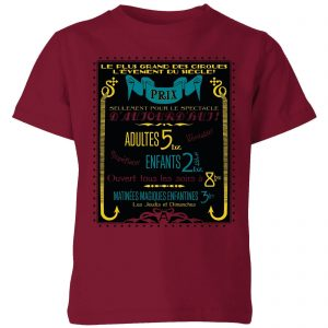 Fantastic Beasts Les Plus Grand Des Cirques Kids' T-Shirt – Burgundy – 3-4 Years – Burgundy