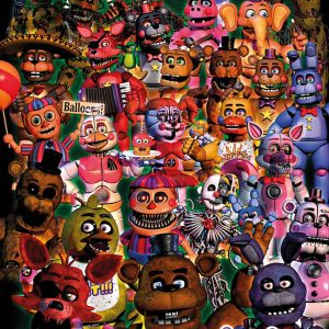 Five Nights At Freddy's Ultimate Group Poster Multicolour