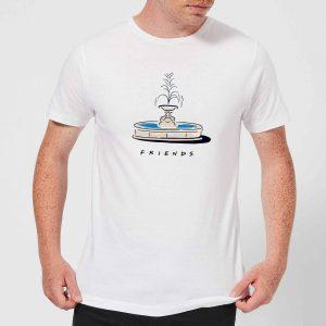 Friends Fountain Men's T-Shirt – White – S – White