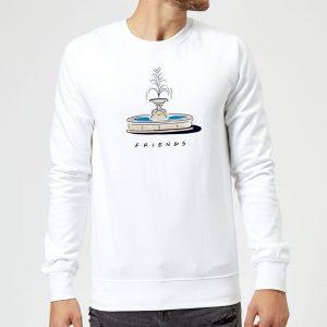 Friends Fountain Sweatshirt – White – S – White