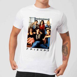 Friends Group Photo Men's T-Shirt – White – S – White