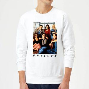 Friends Group Photo Sweatshirt – White – S – White