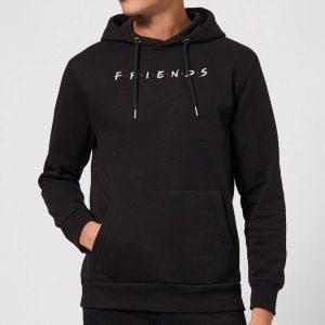 Friends Logo Contrast Hoodie – Black – S