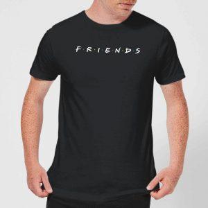 Friends Logo Contrast Men's T-Shirt – Black – S – Black