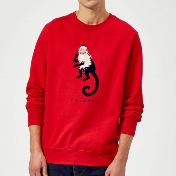 Friends Marcel The Monkey Sweatshirt - Red - S - Red
