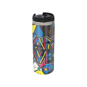 Game Over Shattered Rubik's Cube Stainless Steel Thermo Travel Mug – Metallic Finish