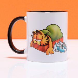Garfield Fitness Fad Black Handle Mug