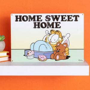Garfield Home Sweet Home Metal Sign