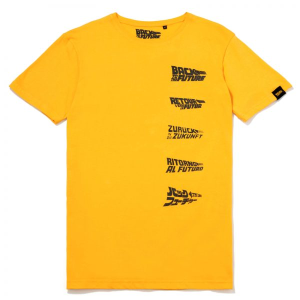 Global Legacy Back To The Future DeLorean T-Shirt - Yellow - S - Yellow