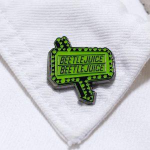 Glow In The Dark Beetlejuice Pin Badge