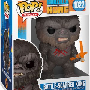 Godzilla Vs. Kong Battle-Scarred Kong Vinyl Figure 1022 Funko Pop! Multicolor