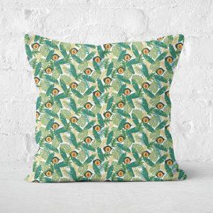 Green Jurassic Park Square Cushion 40x40cm – 50x50cm – Soft Touch