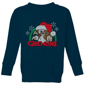 Gremlins Another Reason To Hate Christmas Kids' Sweatshirt – Navy – 3-4 Years – Navy